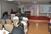 Prof. Sunil Bhandari interacts with the candidates